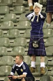 scots fan in despair
